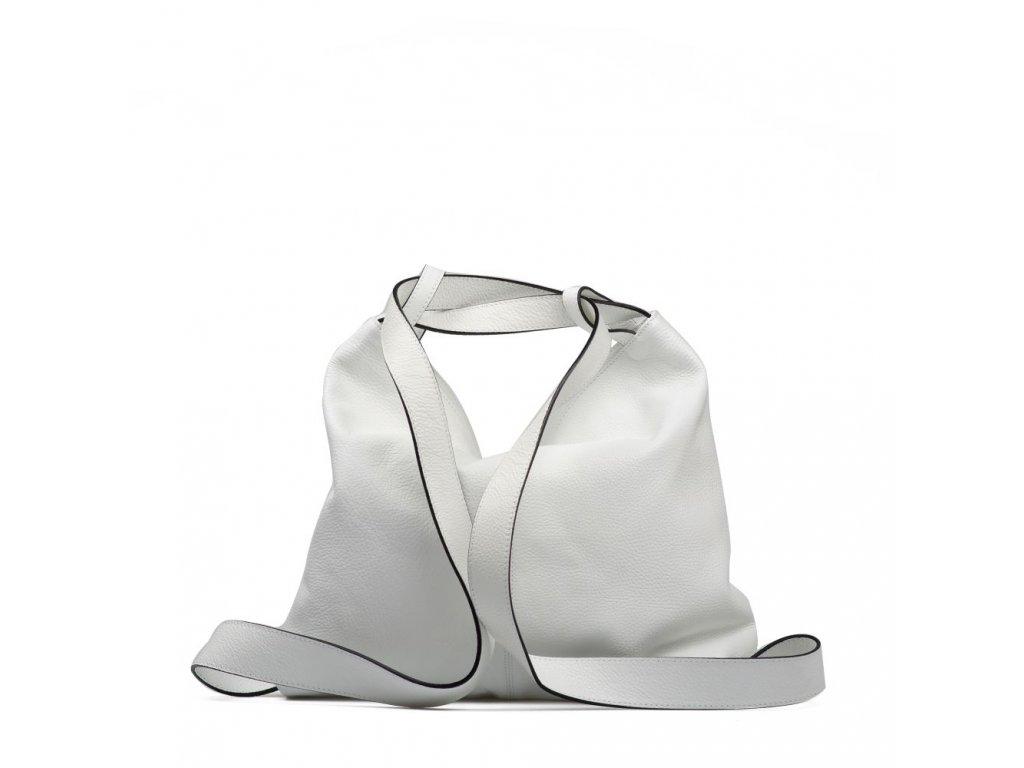 2c101319508 Kožená kabelka - batůžek Giada bílá · Kožená kabelka - batůžek Giada bílá  ...