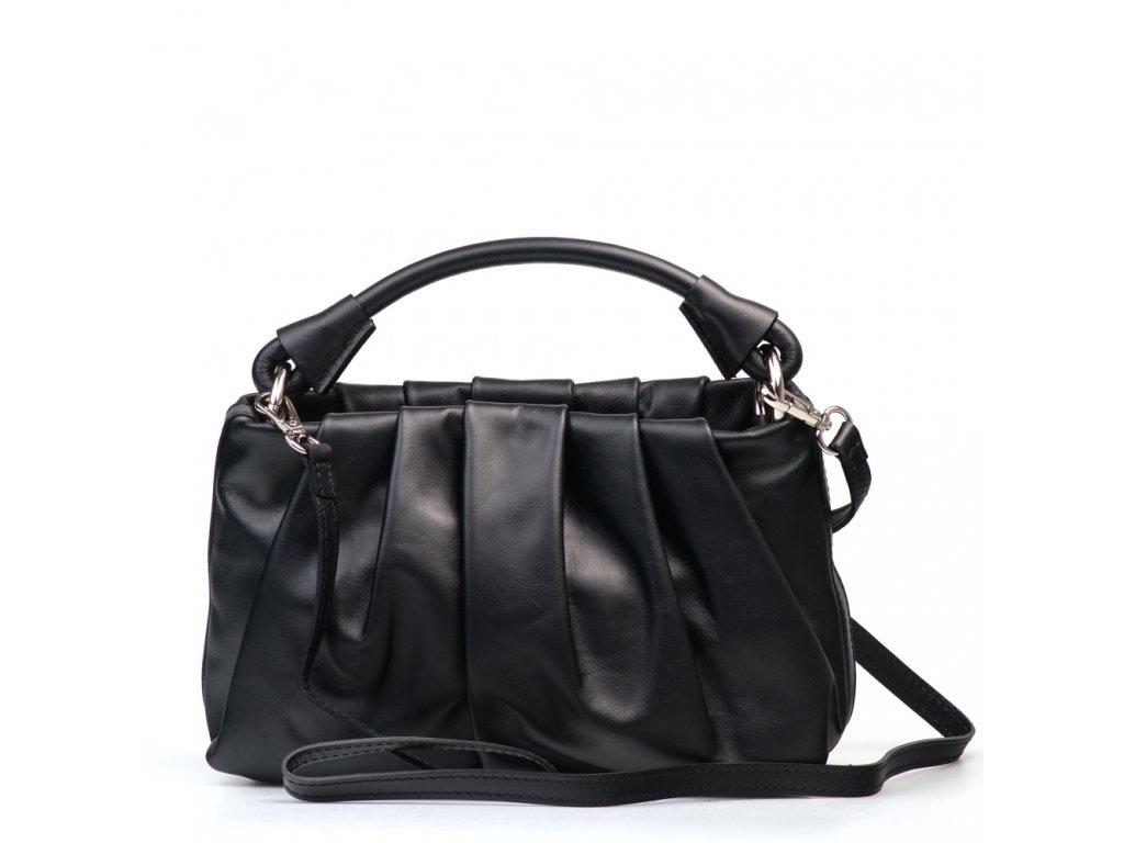 Kožená kabelka Virginia černá