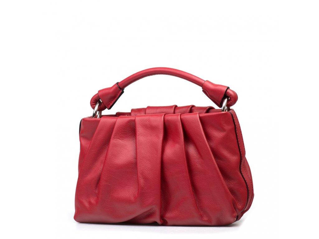Kožená kabelka Virginia vínově červená