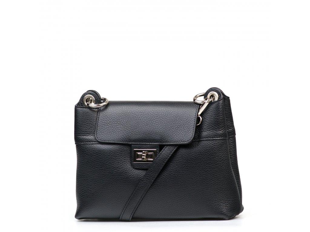 Kožená kabelka Carina černá