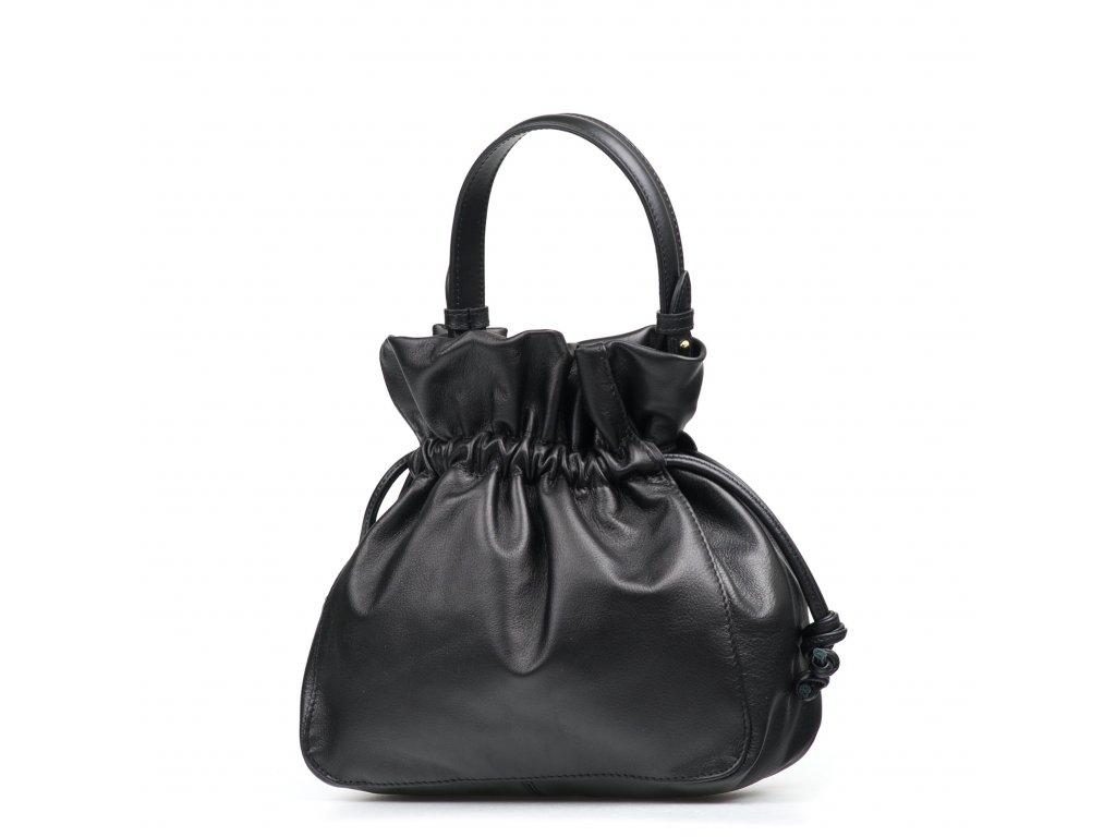 Kožená kabelka Maggie černá