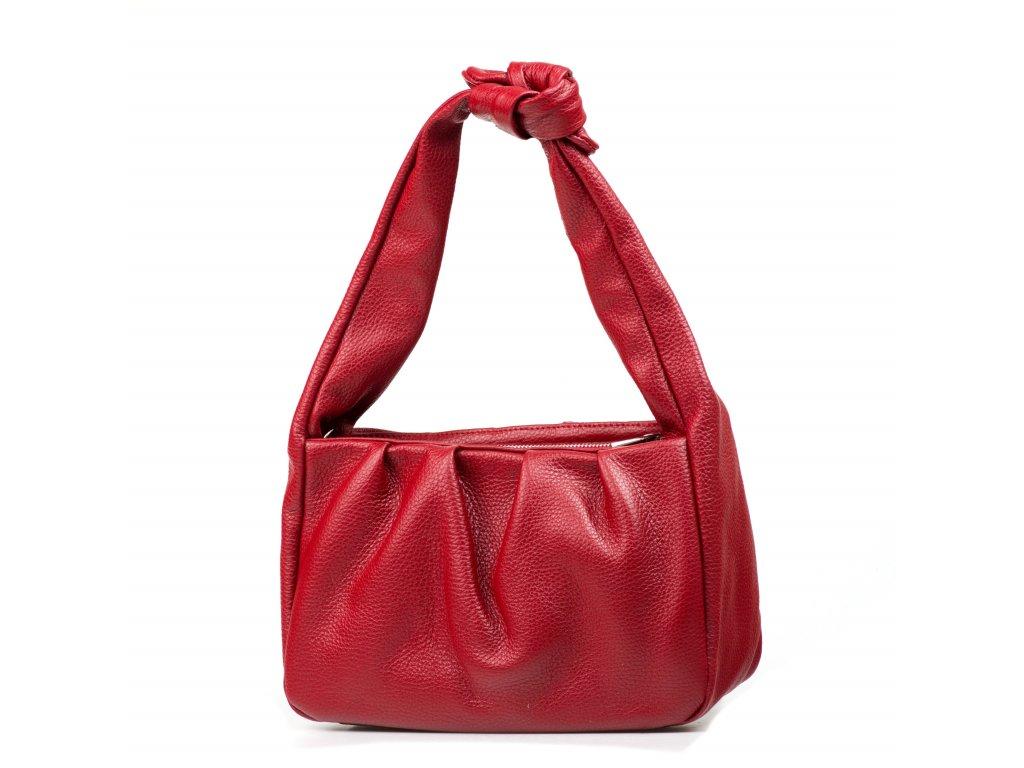 Kožená kabelka Ivy vínově červená