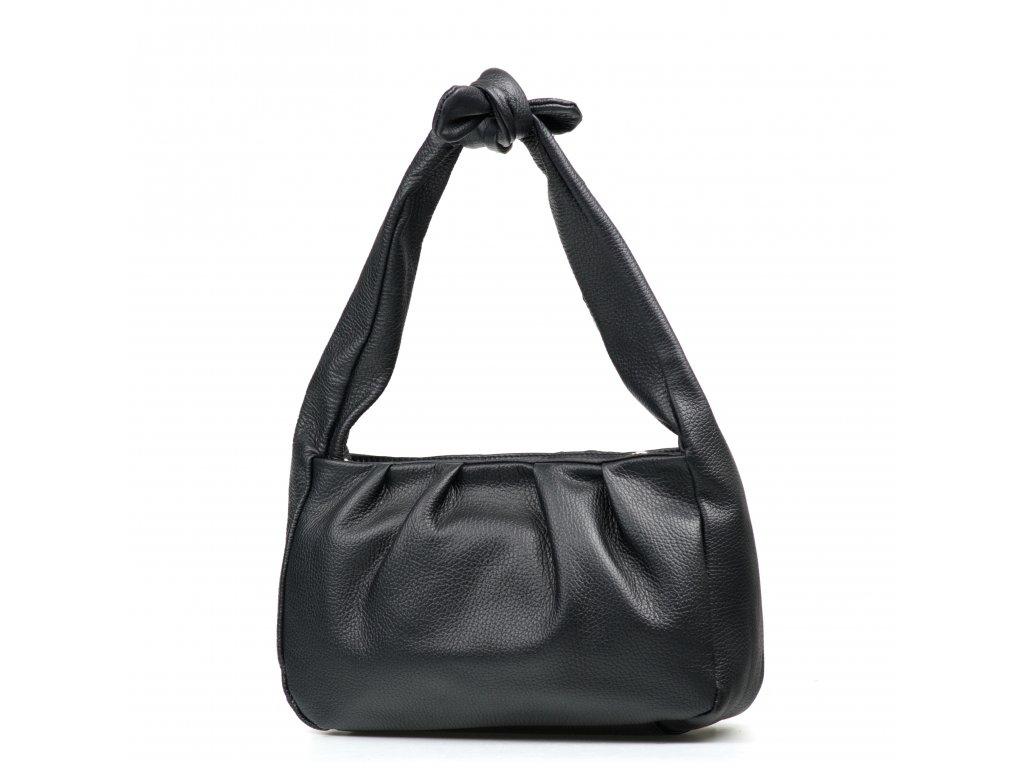 Kožená kabelka Ivy černá