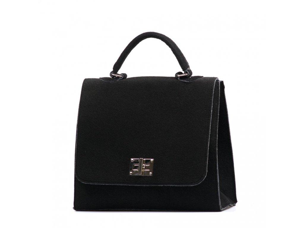 Filcová kabelka Guiliana černá