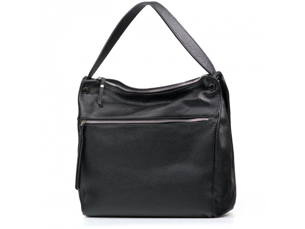 Kožená kabelka Daria černá
