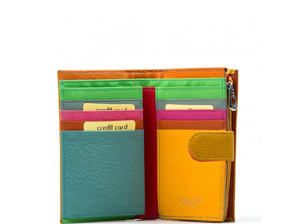 Dámská kožená peněženka Catrina hořčicově žlutá