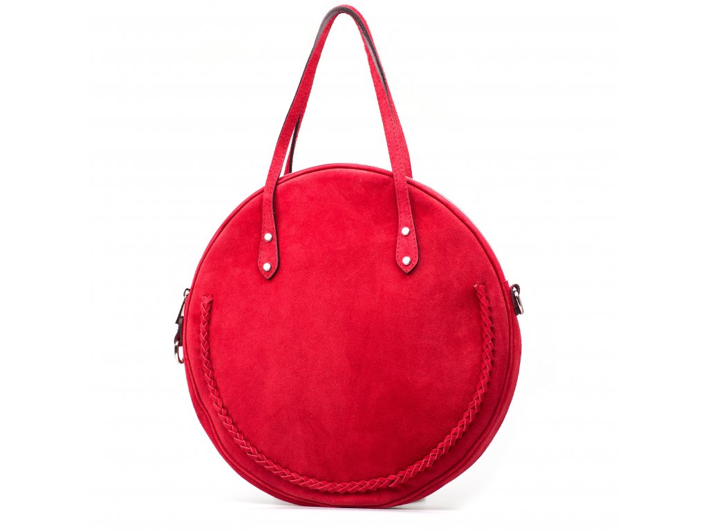 Kožená kabelka Marisel červená