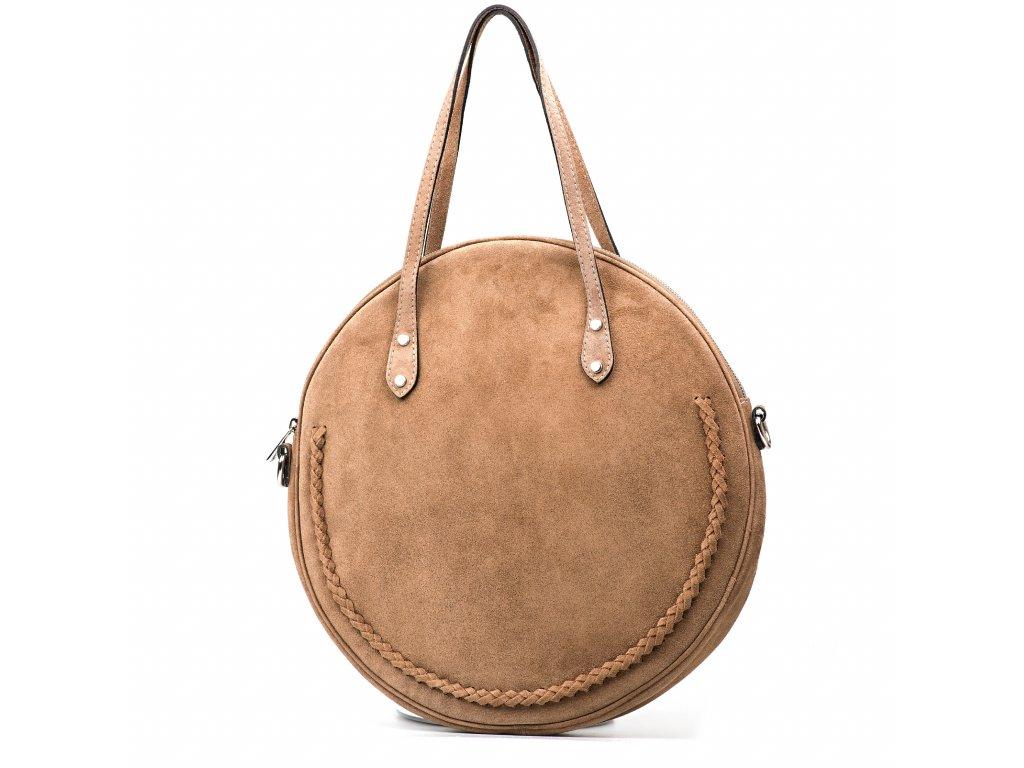 Kožená kabelka Marisel béžová