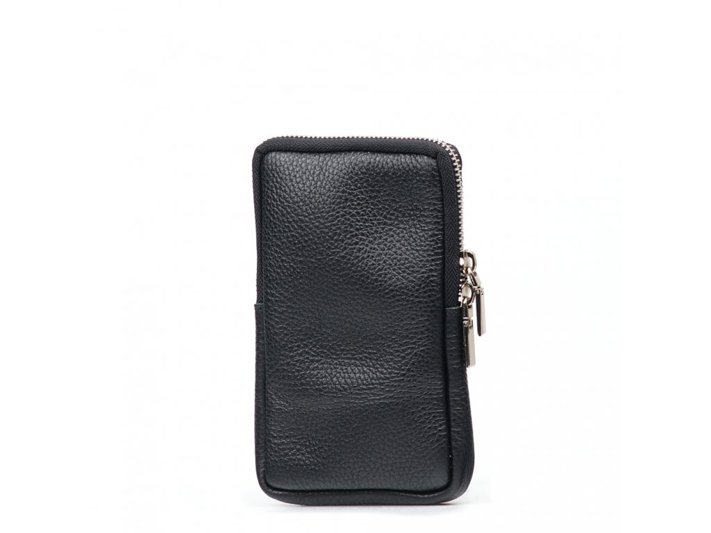 Kožená mini kabelka Mila na telefon černá