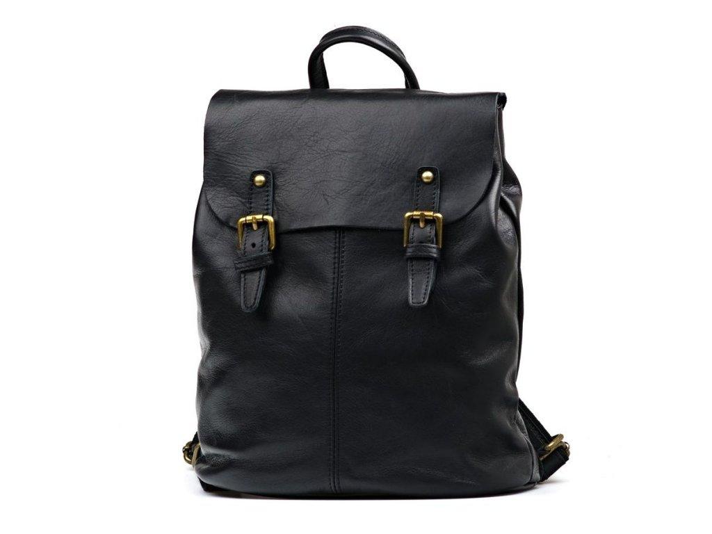 Kožený batůžek Summer černý