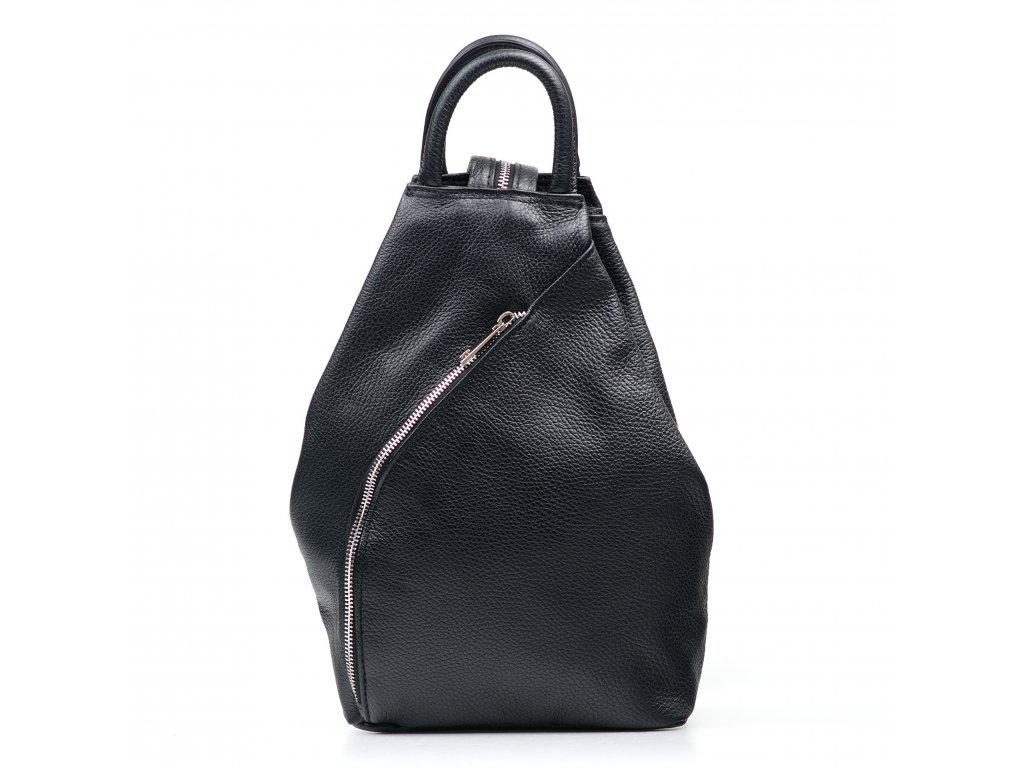 Kožený batůžek Margaret černý