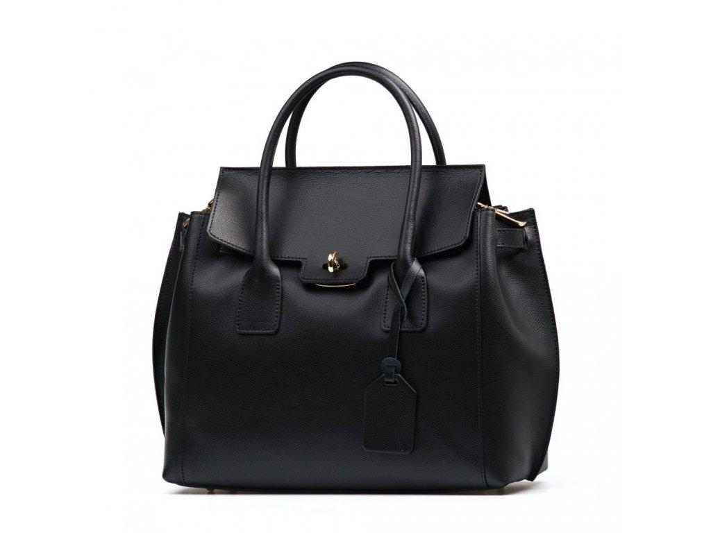 Kožená kabelka Federika černá