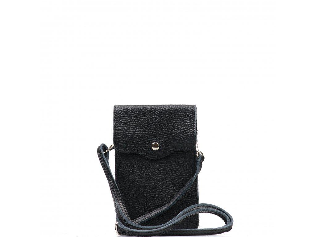 Kožená mini kabelka Jessi na telefon černá
