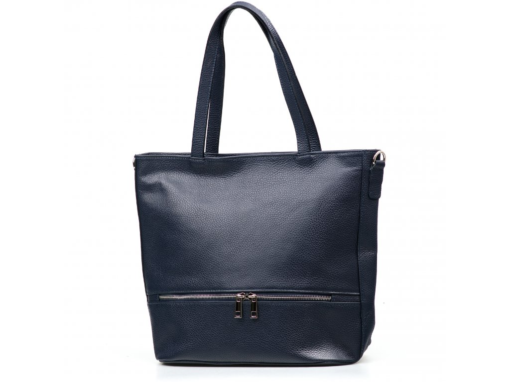 Kožená kabelka Thea modrá