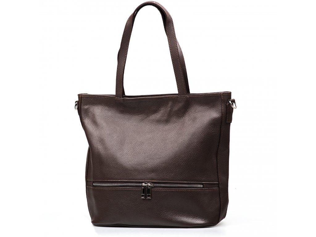 Kožená kabelka Thea hnědá