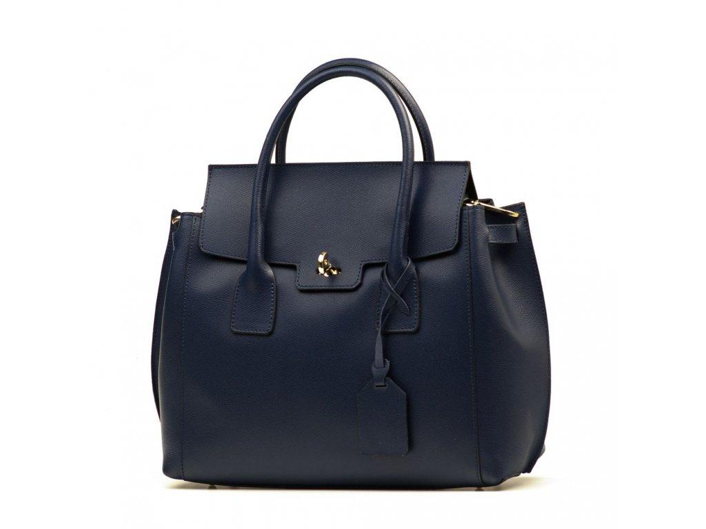 Kožená kabelka Federika tmavě modrá