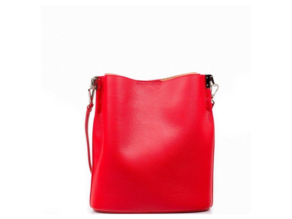 Kožená kabelka Nita červená