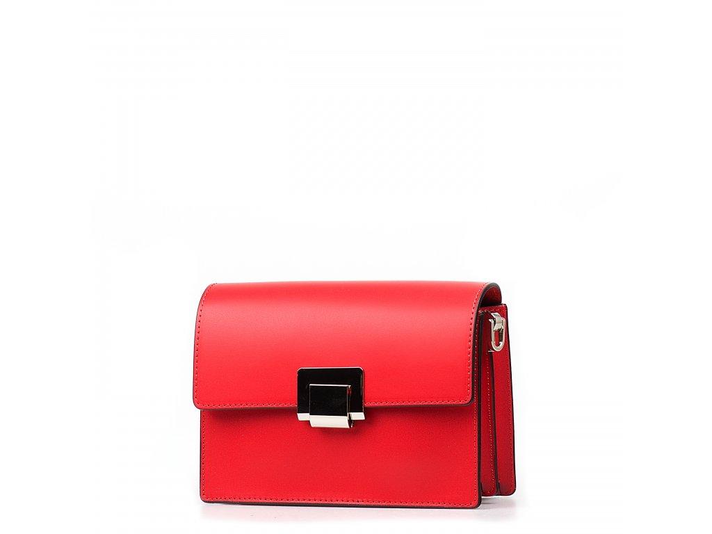 Kožená kabelka Gaby červená