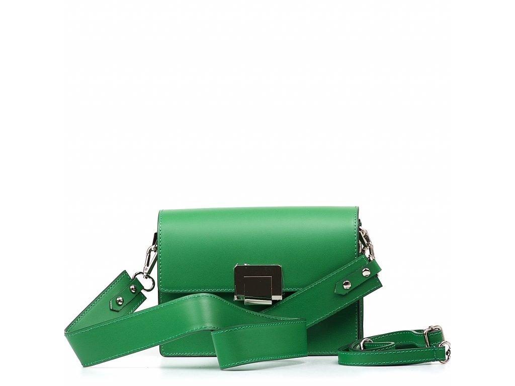 Kožená kabelka Gaby zelená