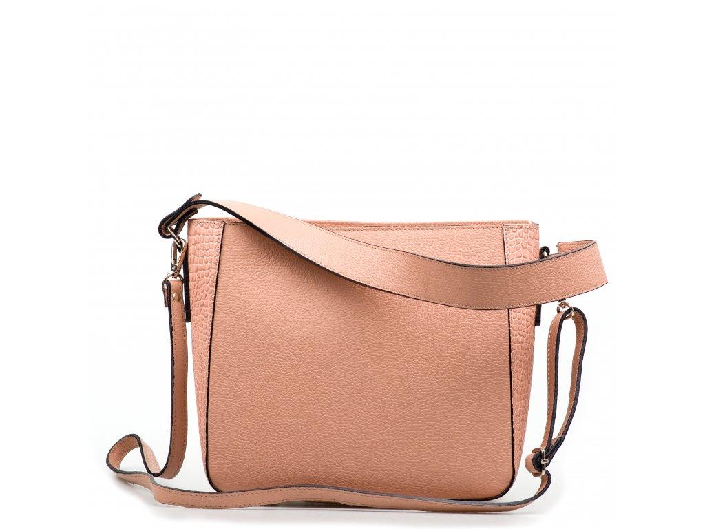 Kožená kabelka Michelle růžová