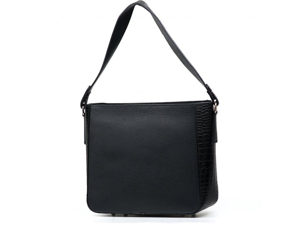 Kožená kabelka Michelle černá