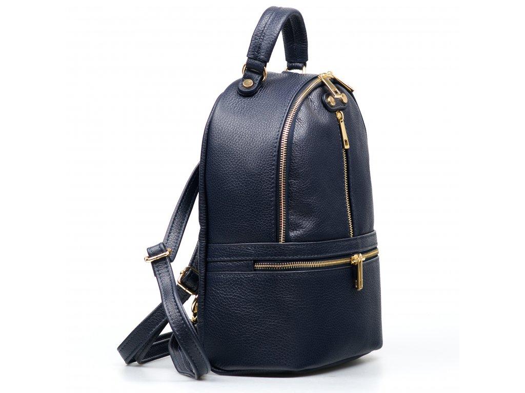 Kožený batůžek Corinne modrý
