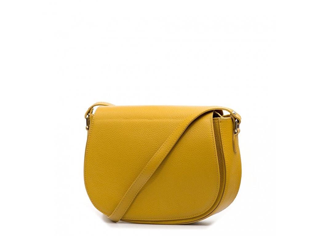 Kožená crossbody kabelka Bonnie hořčicově žlutá