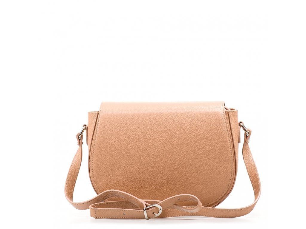 Kožená crossbody kabelka Bonnie růžová