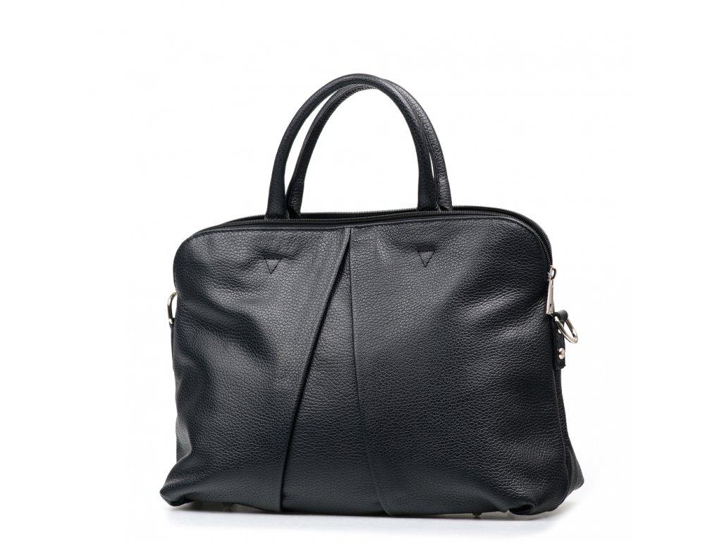 Kožená kabelka Camille černá