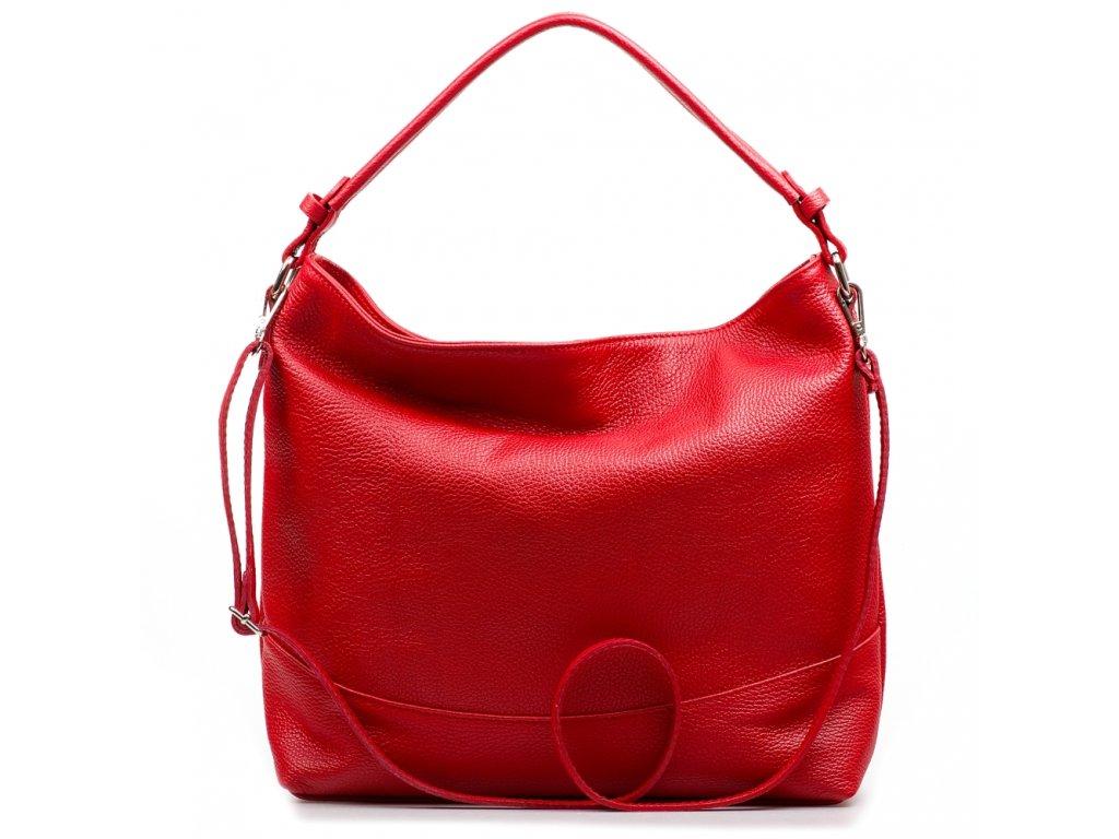 Kožená kabelka Shaila červená