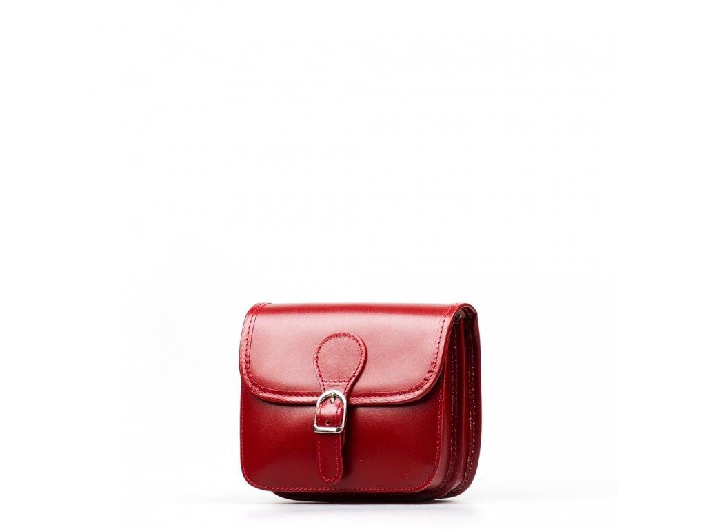 Kožená crossbody kabelka Fabienne červená