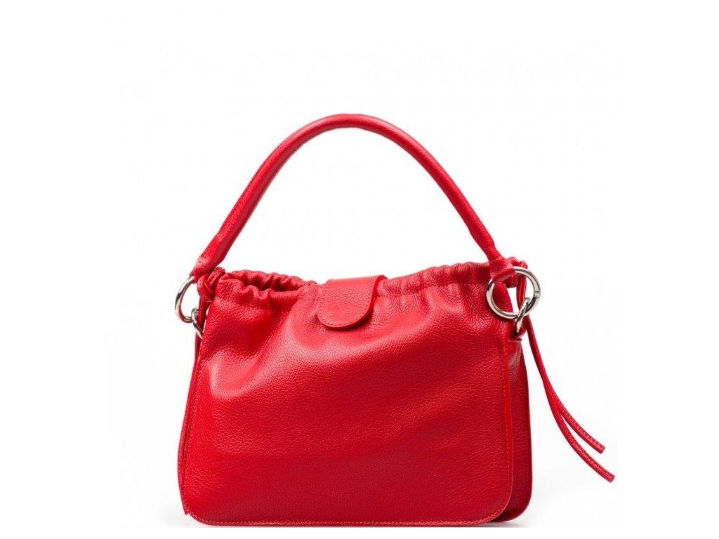 Kožená kabelka Tabita červená