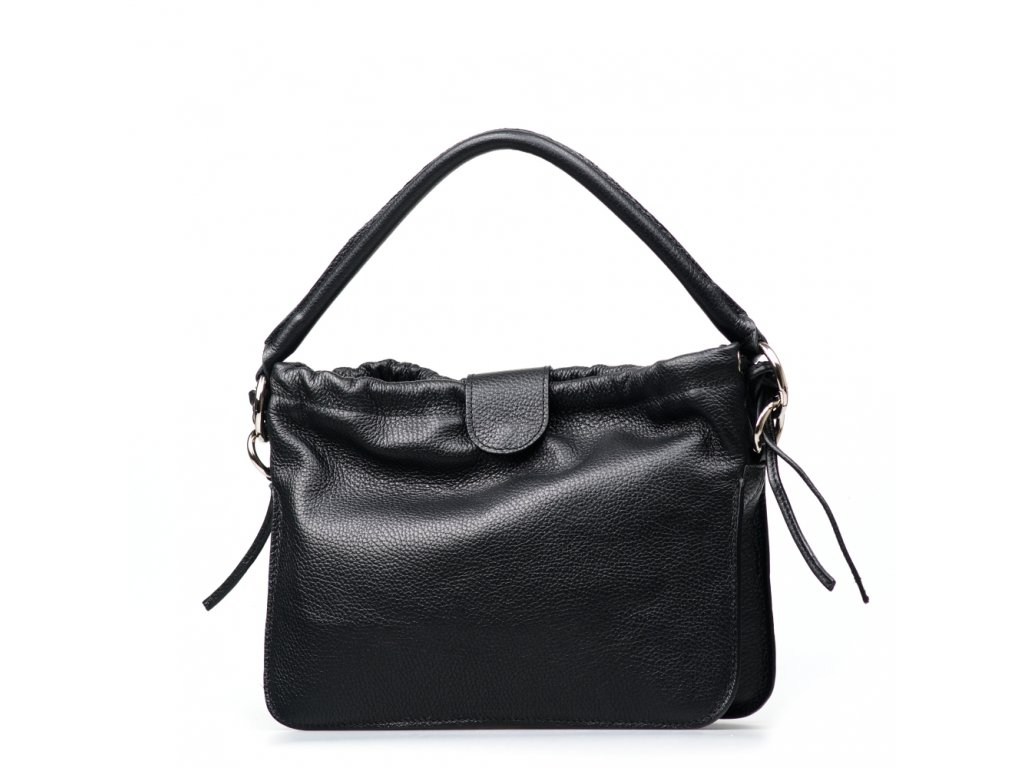 Kožená kabelka Tabita černá