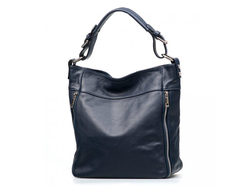 Kožená kabelka Funny modrá