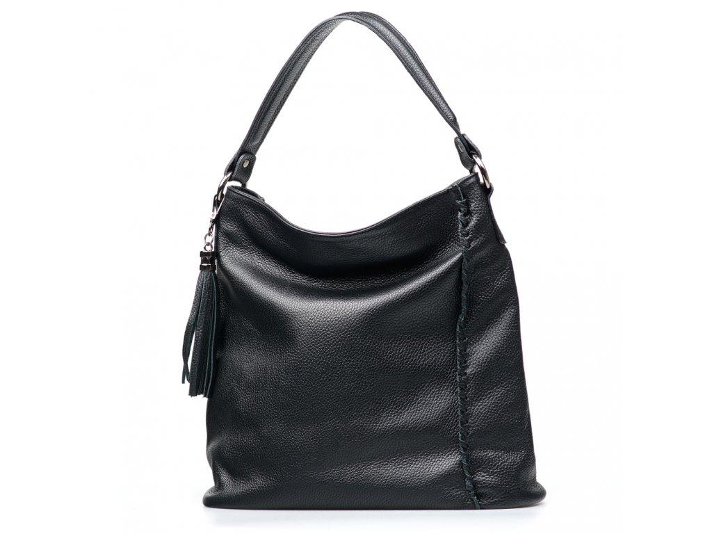 Kožená kabelka Felicia černá