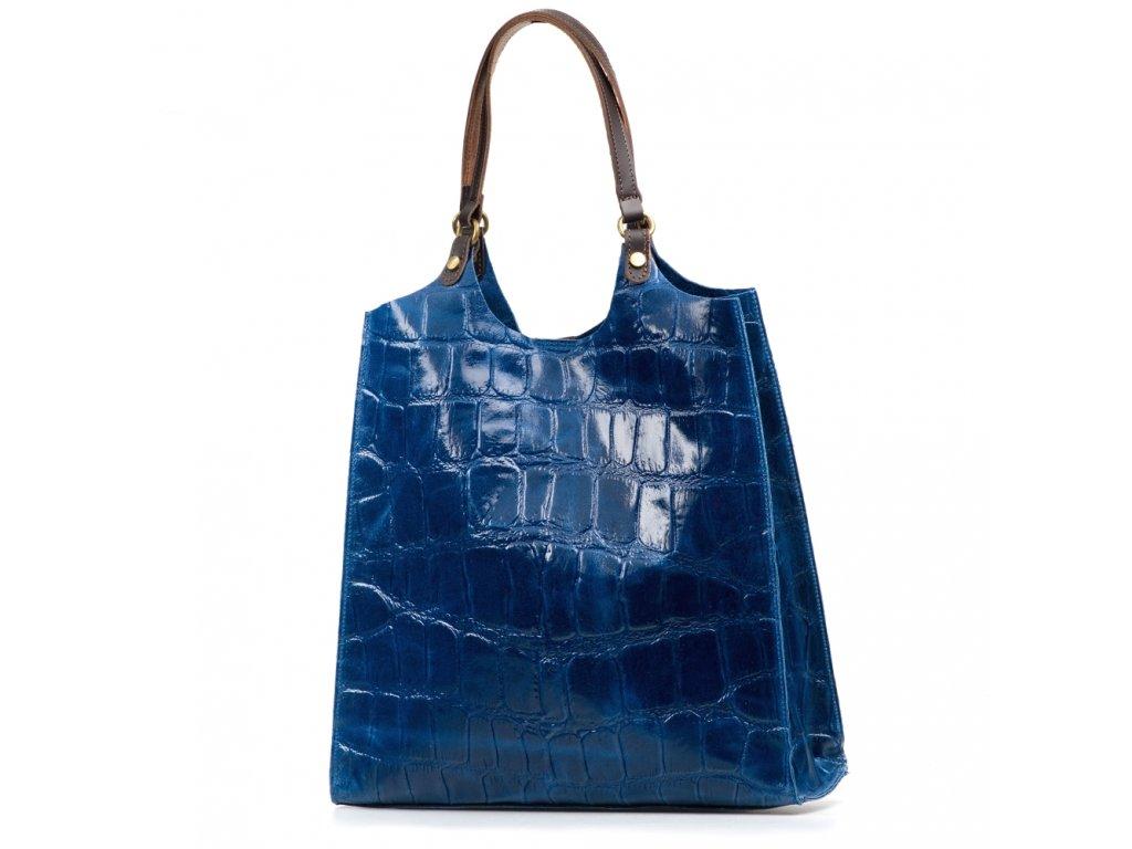 Kožená kabelka Zoelle modrá