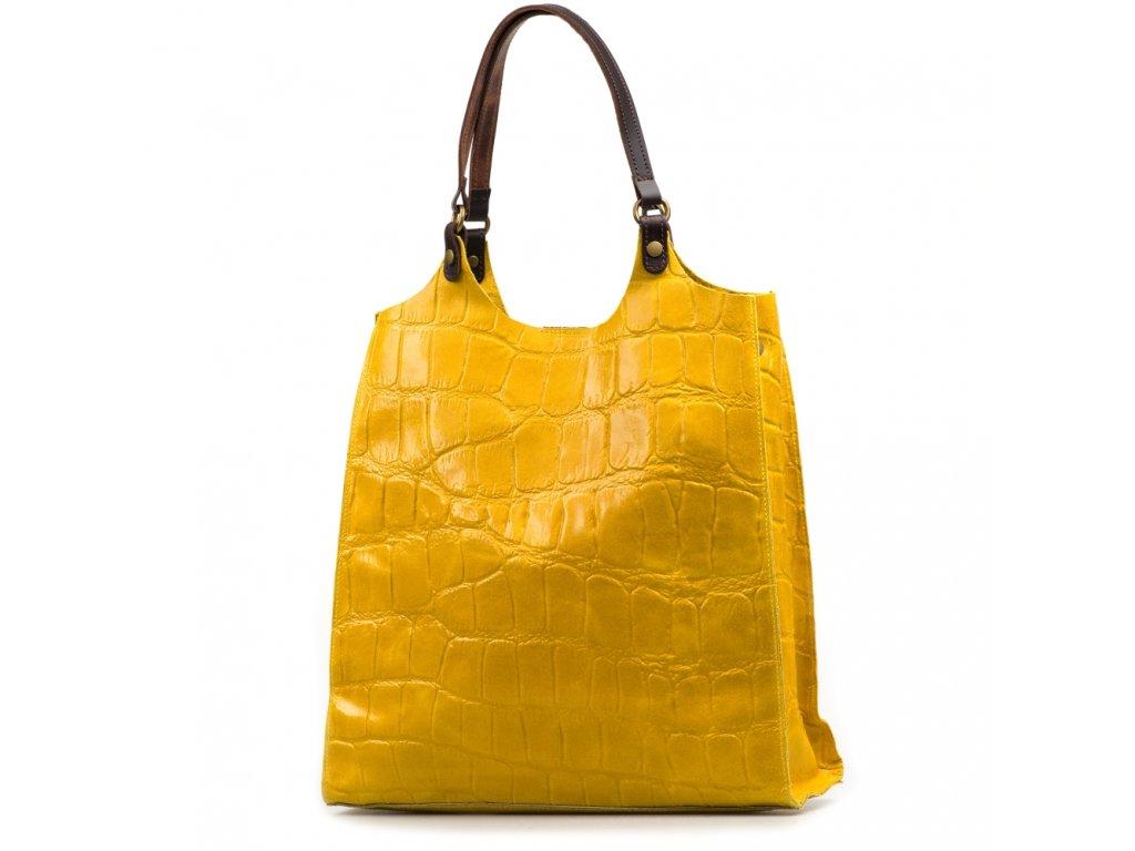 Kožená kabelka Zoelle žlutá