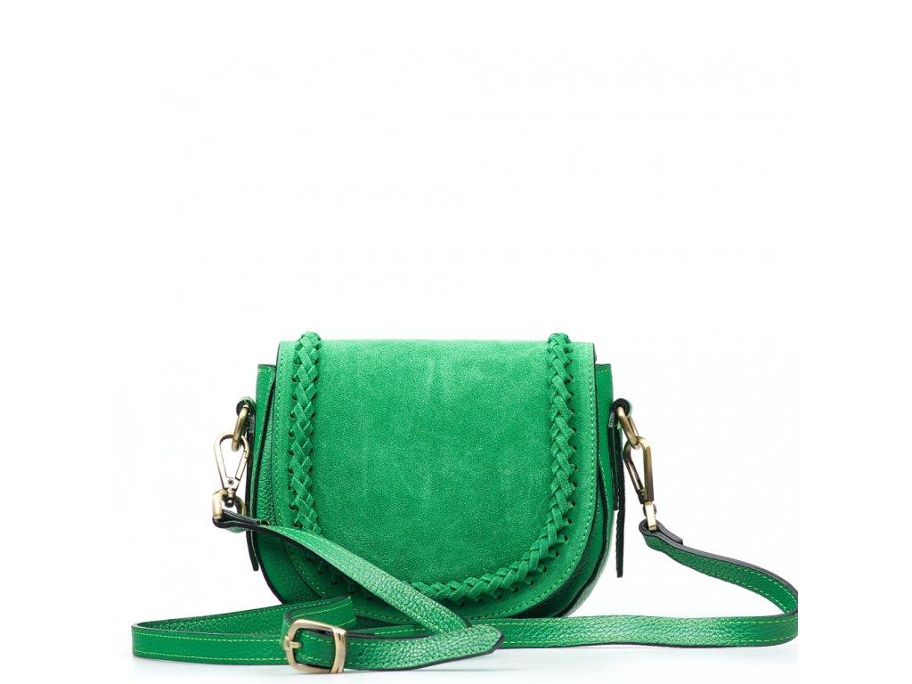 Kožená crossbody kabelka Marina zelená
