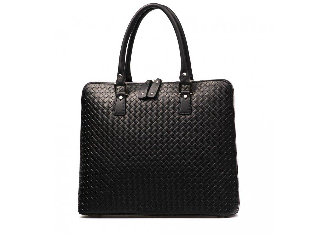 Kožená kabelka Adele černá