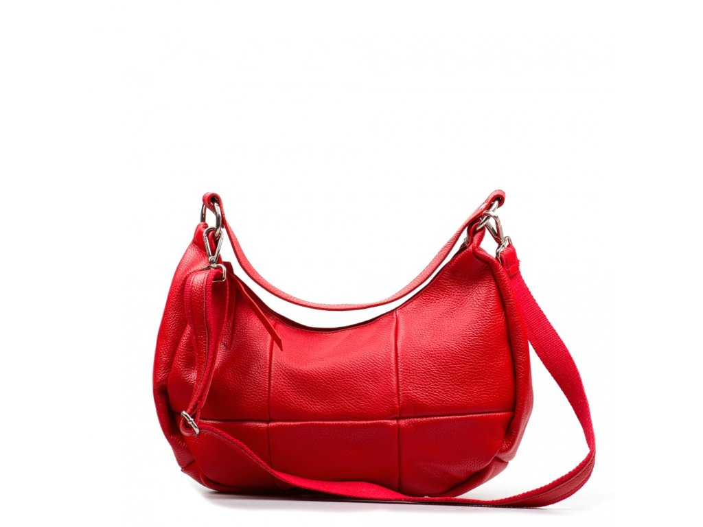 Kožená kabelka Alexis červená