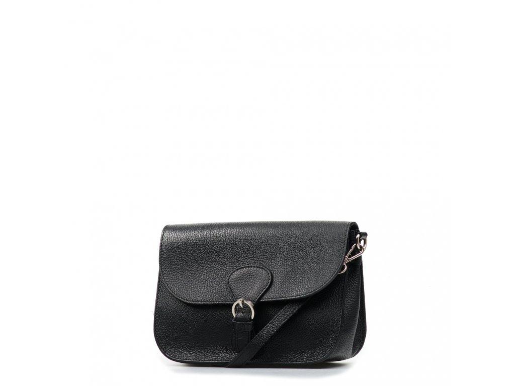 Kožená kabelka Claude černá