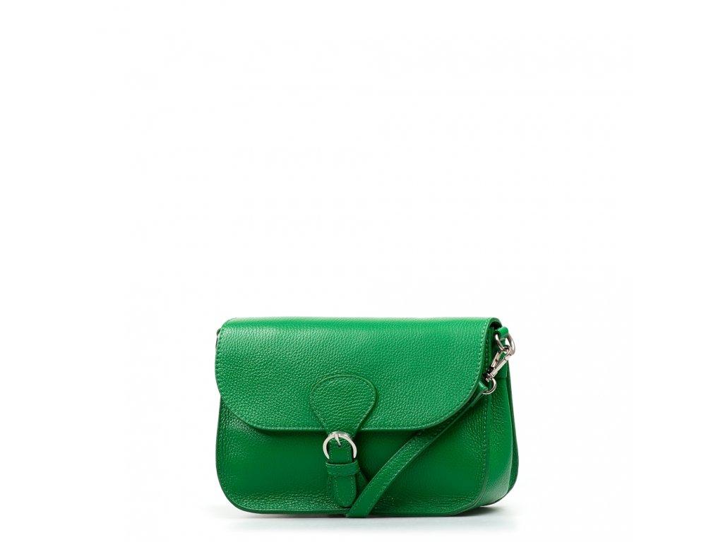 Kožená kabelka Claude zelená