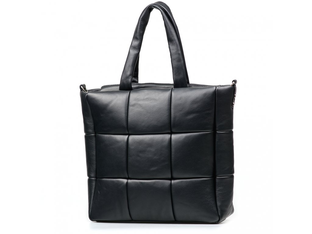 Kožená kabelka Marlena černá
