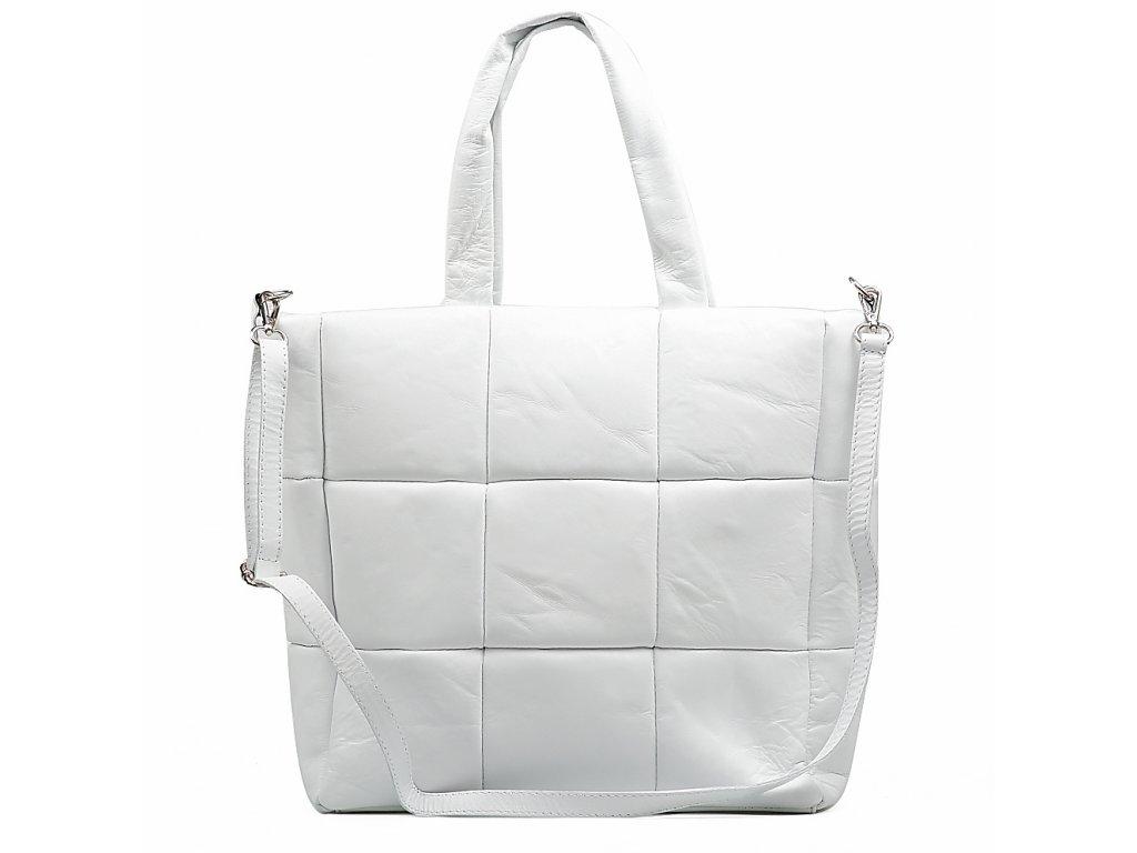 Kožená kabelka Marlena bílá