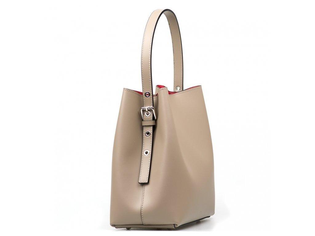 Kožená kabelka Sarah taupe