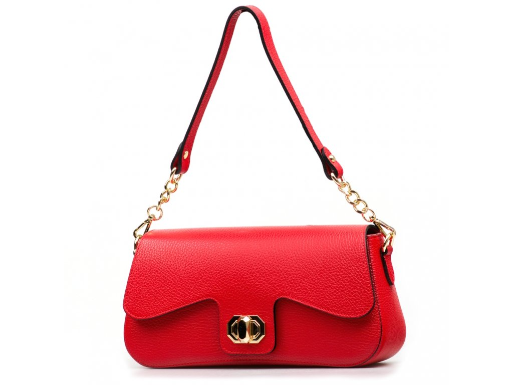 Kožená kabelka Odeta červená