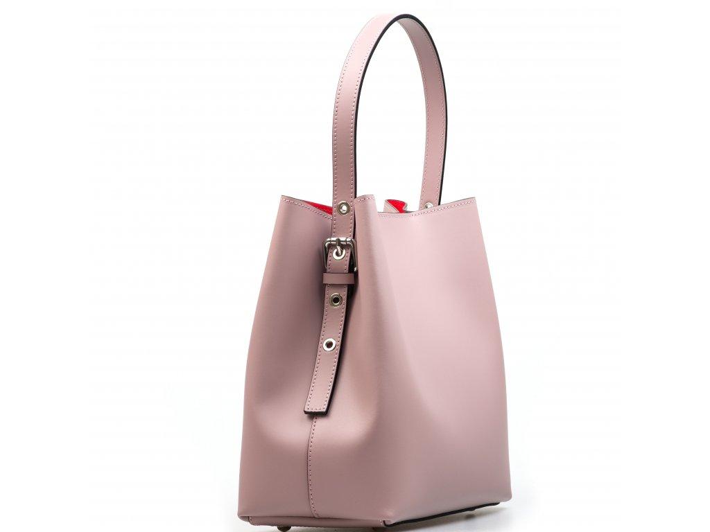 Kožená kabelka Sarah pudrově růžová