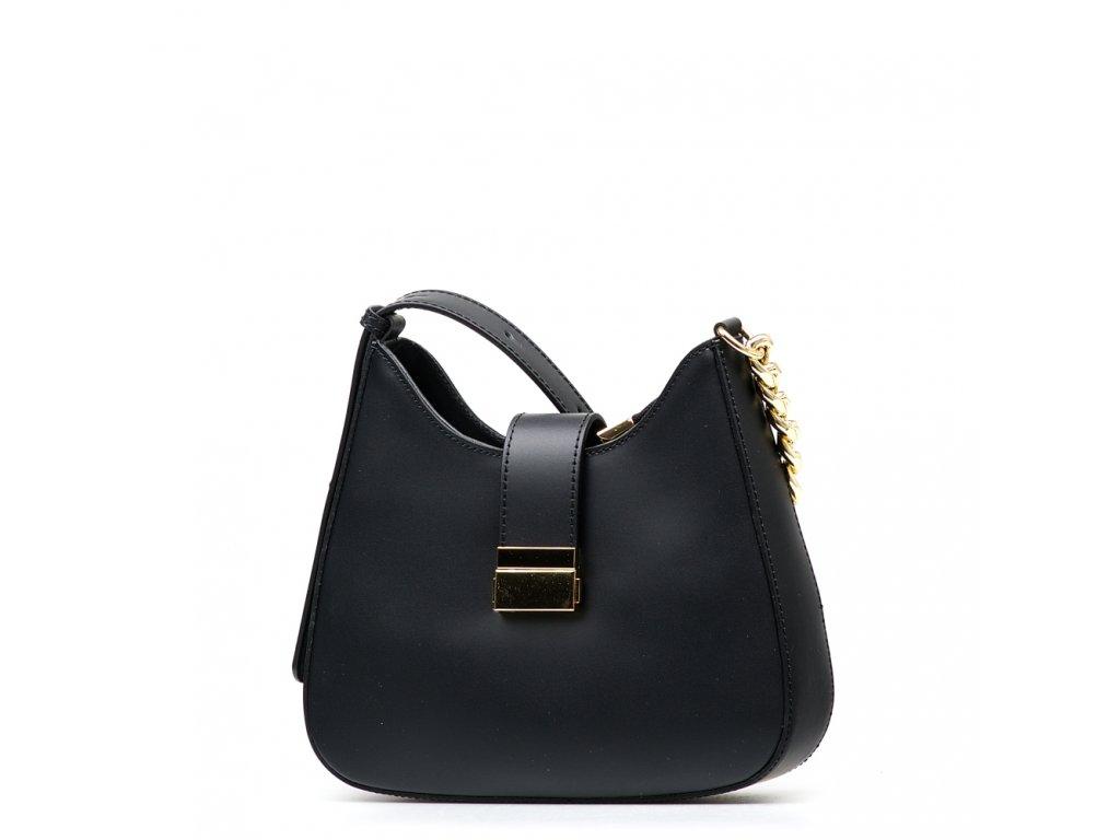 Kožená kabelka Michela černá