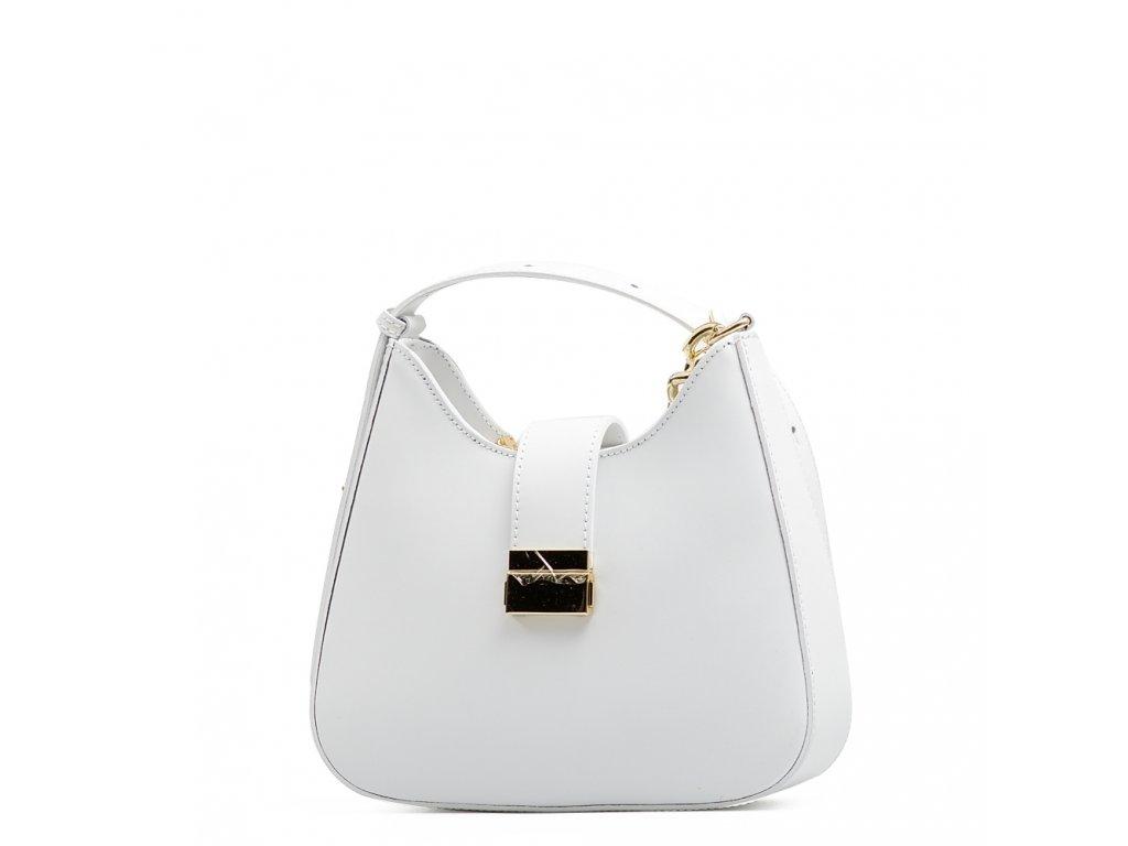 Kožená kabelka Michela bílá
