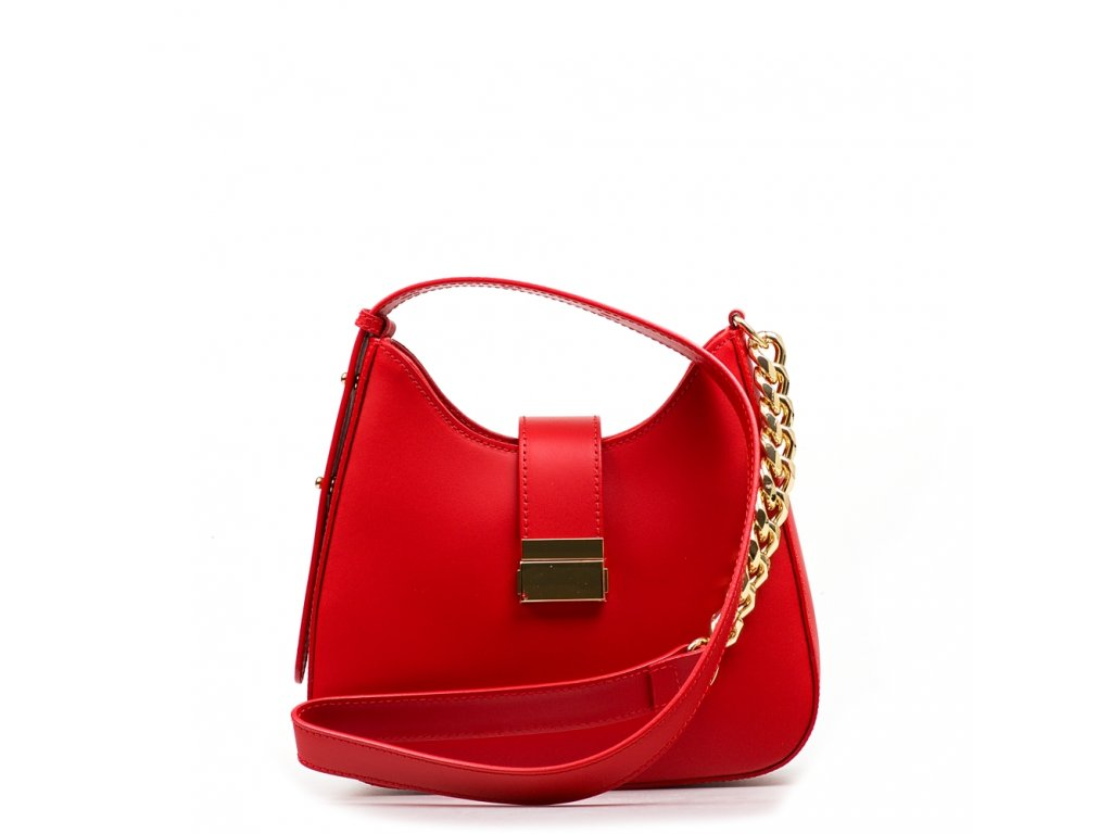 Kožená kabelka Michela červená